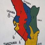 Kenias Provinzen vor 2012 an der Außenwand