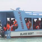 Ausflug mit dem Glasbodenboot, anstelle eines Afrikafestes