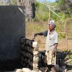 Sanierung des Toilettenhauses, neue Mauern