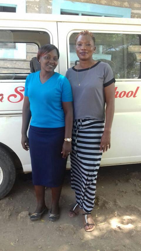 Deputy Headmaster Mrs.  Liberty Manager Tuko Pamoja Kenya e.V. Mrs. Francy