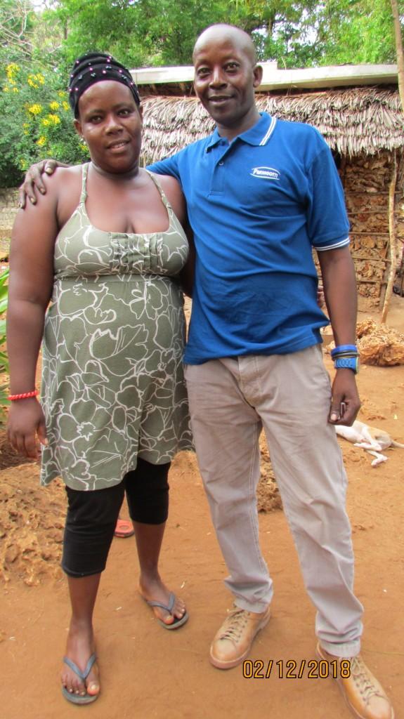 Joseph Kamau und Nelly Nyambura